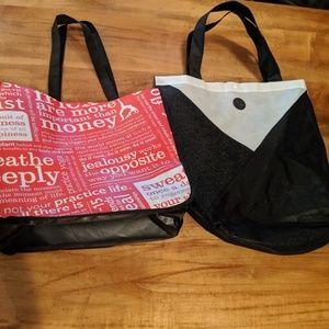 Lululemon reusable bags set of 2